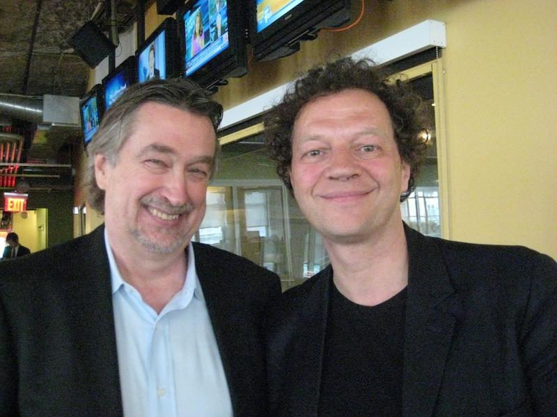 The Tribeca Film Festival's Geoff Gilmore and Frederic Boyer in the WNYC studios