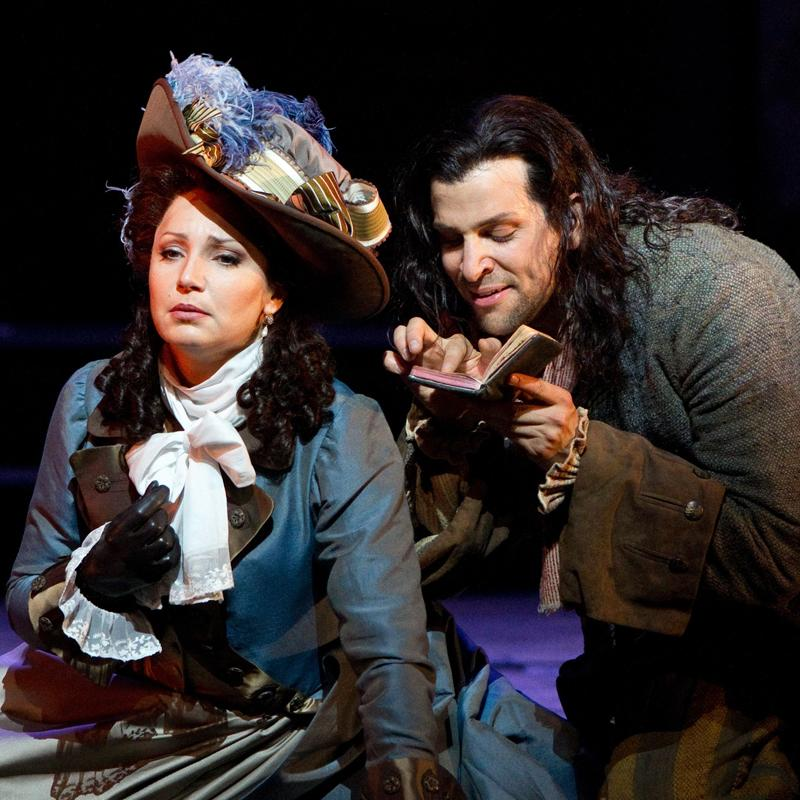Barbara Frittoli as Donna Elvira with Luca Pisaroni's Leporello in the Met's 'Don Giovanni'