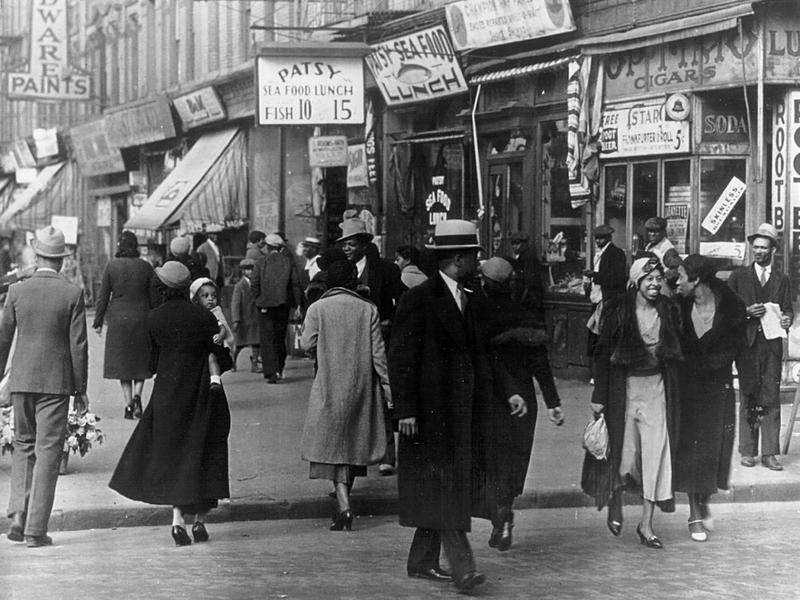 A scene from Harlem in the 1920s
