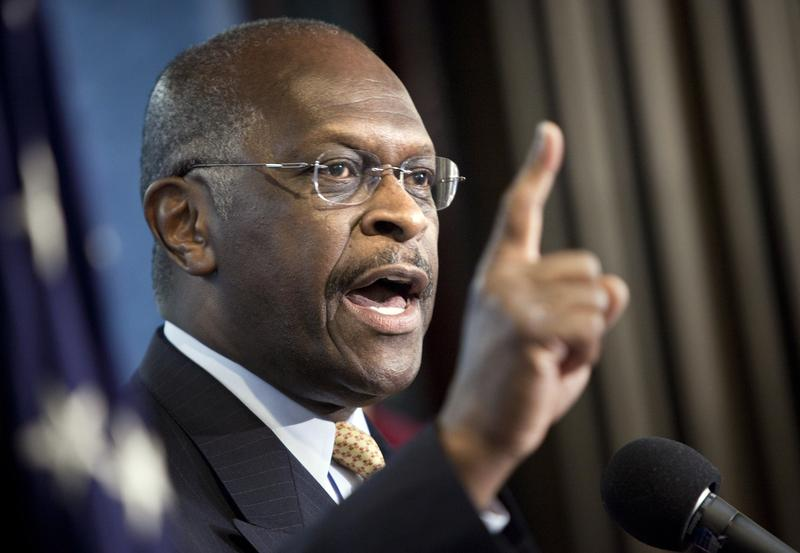 Talk show host and conservative Herman Cain