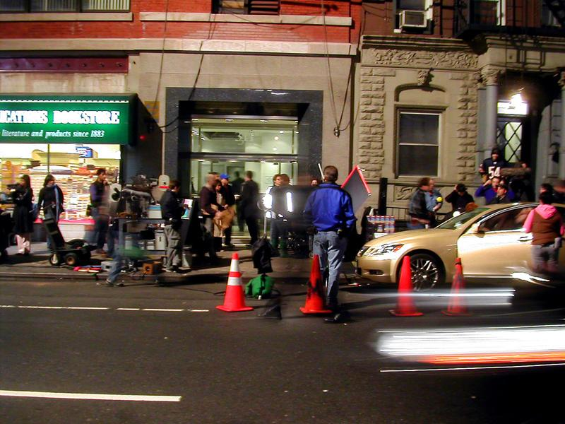 Law & Order Filming on an NYC Street