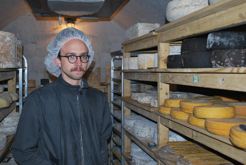 Michael Anderson in a cheese cave.