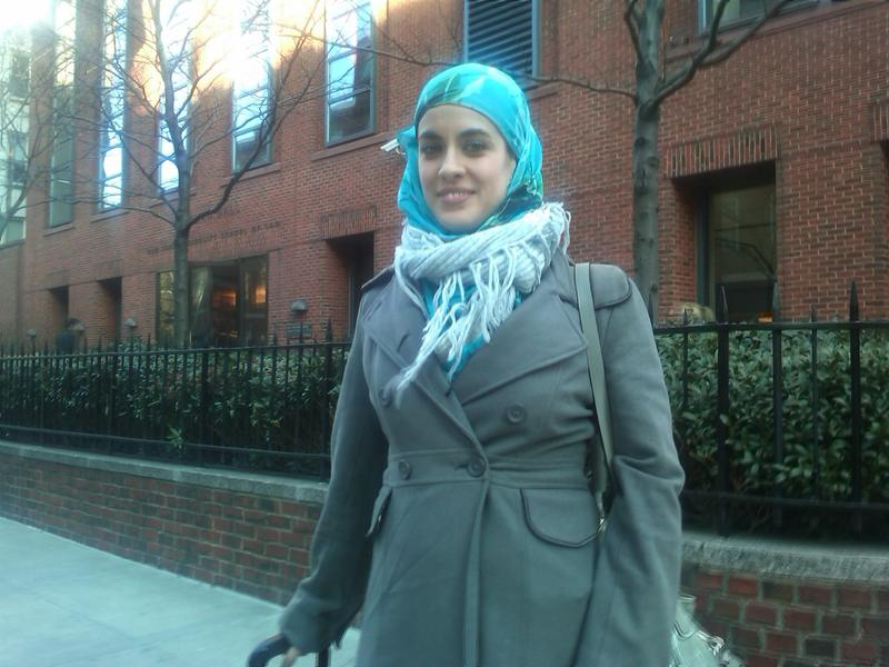 NYU Law Student Elizabeth Dann says families are pressuring Muslim students to avoid Muslim student gatherings
