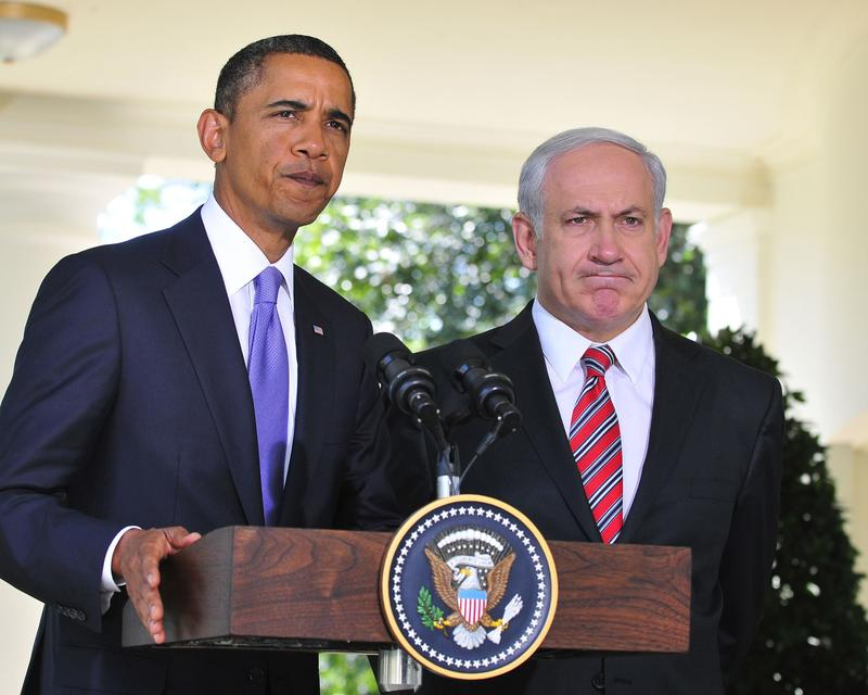 President Barack Obama makes a statement with Israeli Prime Minister Benjamin Netanyahu