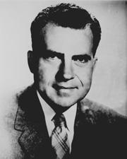 Future U.S. Vice President and President Richard Nixon while he served in U.S. Congress