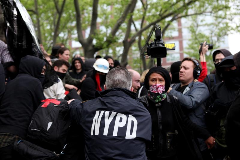 NYPD arresting protesters.