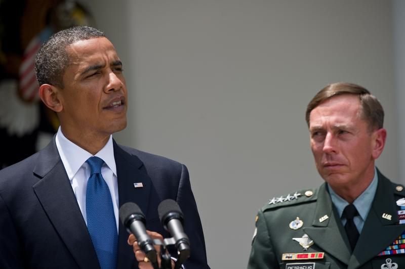 President Barack Obama announces the resignation of US commander in Afghanistan Gen. Stanley McChrystal and his successor Gen. David Petraeus