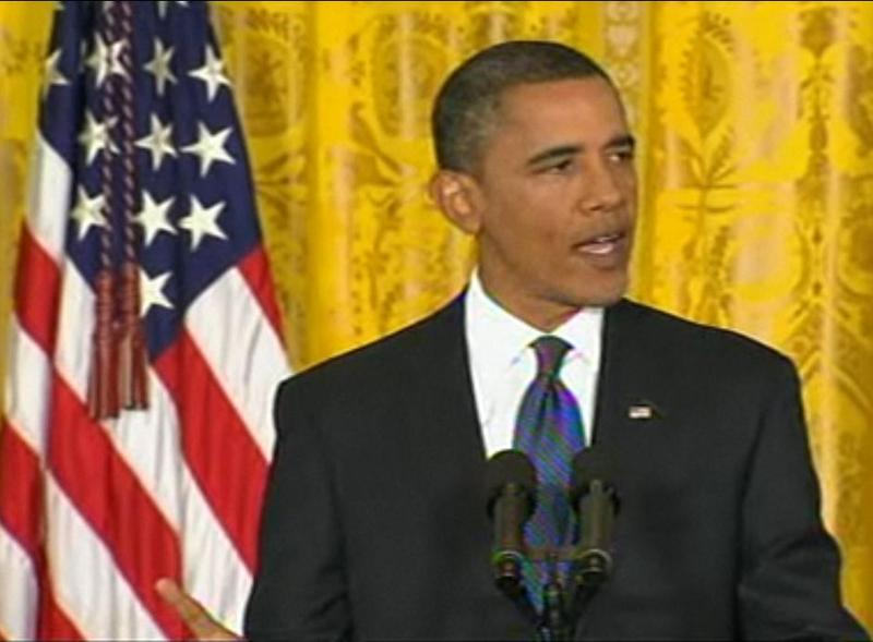 President Obama speaking at the White House on Friday, September 10, 2010