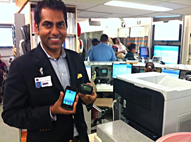 Dr. Rahul Sharma is the medical director and associate chief of service of the Emergency Department at NYU Langone Medical Center. His department recently received a dozen iPhones.