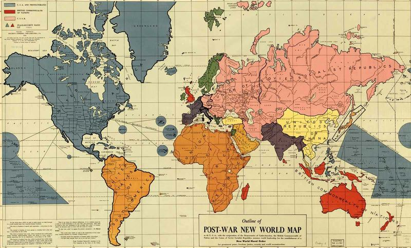 Post-War New World Map.