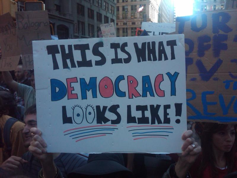 Sign at Occupy Wall Street Rally.