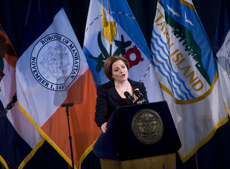 New York City Council Speaker Christine Quinn delivers the 2011 State of the City address