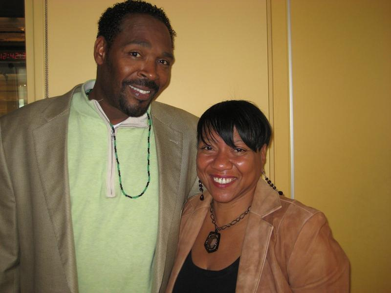 Rodney King and Cynthia Kelley in the WNYC studios