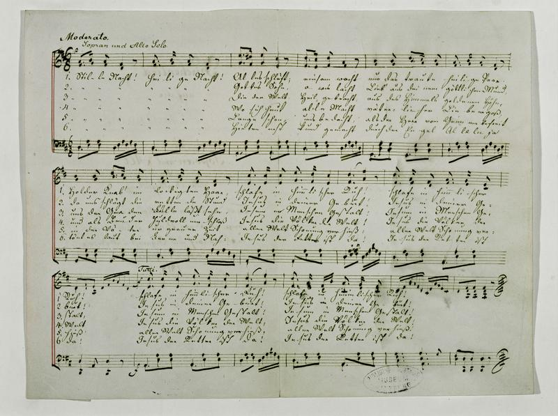 "Manuscript of ""Silent Night, Holy Night,"" 1818 Museum Carolino Augusteum, Salzburg, Austria"