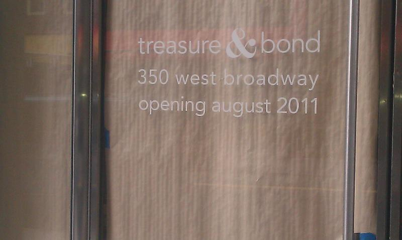 Treasure and Bond storefront prior to the opening.