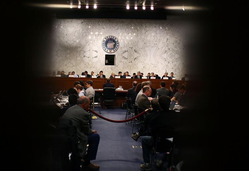 Members of the Joint Deficit Reduction Committee participate in a hearing October 26, 2011