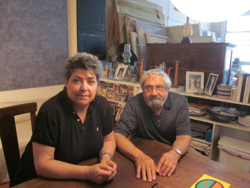 Jean and Stephen Grillo in theirTriBeCa Loft.