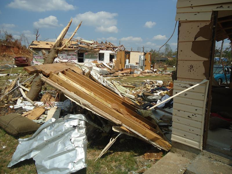 Tornado damage in Tuscaloosa, Alabama, May 9, 2011