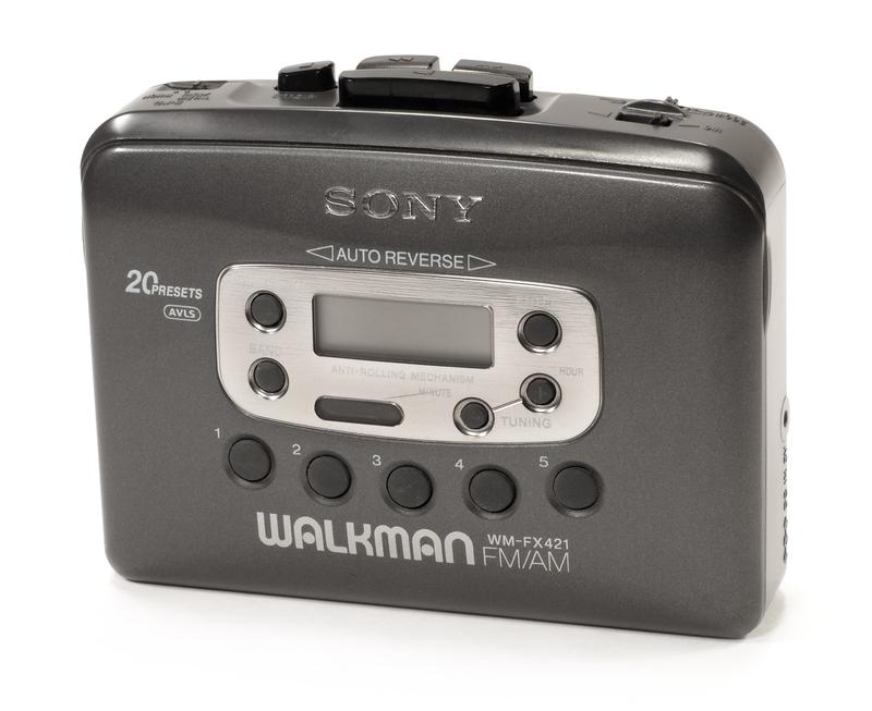 A Sony WM-FX421 Walkman, for stereo cassettes.