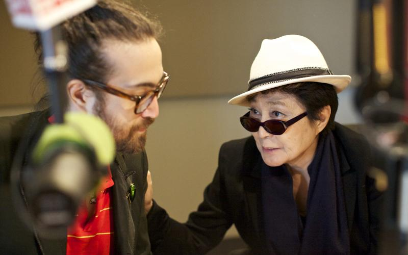 Sean Lennon and Yoko Ono discuss what songs to play on WNYC's Spinning on Air with David Garland.