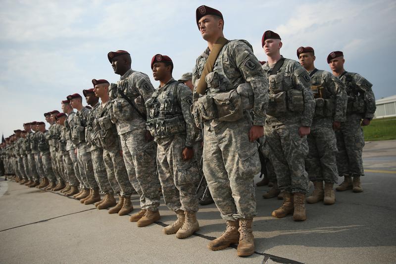 U S Army 173rd Airborne Brigade At A Polish Air Force Base