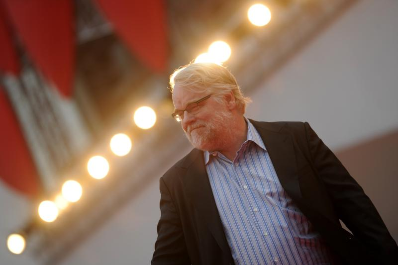 US actor Philip Seymour Hoffman arrives for the screening of 'The Master' during the 69th Venice Film Festival on September 1 , 2012 at Venice Lido.