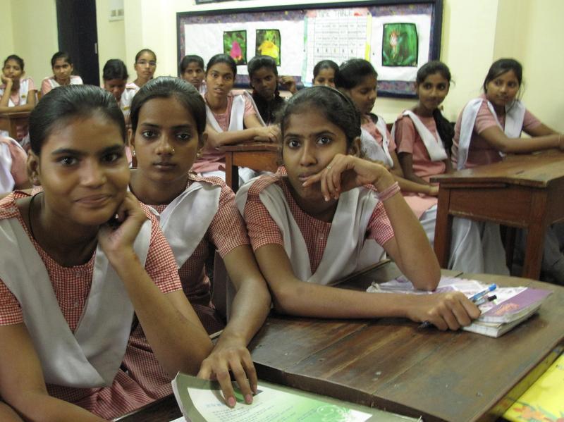 Students at Prerna Junior High
