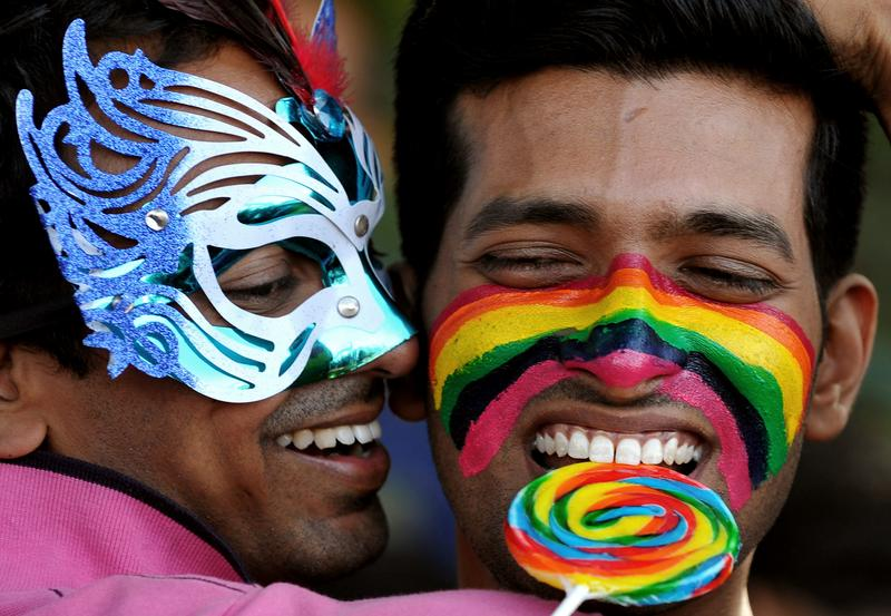 Members of the LGBT community take part in the Bangalore Queer Pride Parade 2012 on December 2, 2012.