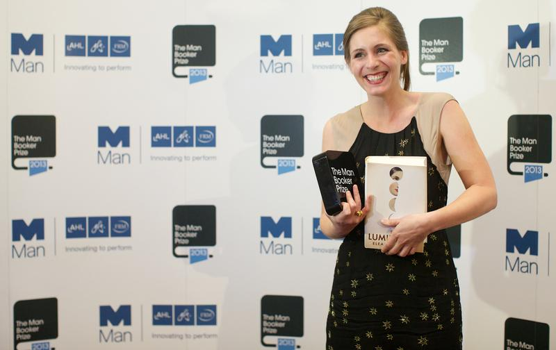New Zealand author Eleanor Catton poses after winning the 2013 Man Booker Prize for Fiction for her book 'The Luminaries' in central London on October 15, 2013.