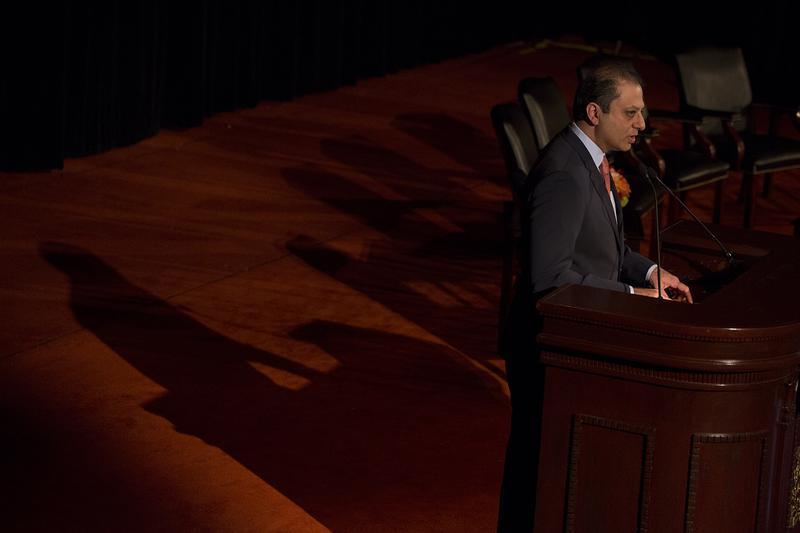 U.S. attorney Preet Bharara spoke at a Regional Plan Association luncheon April 24, 2015.
