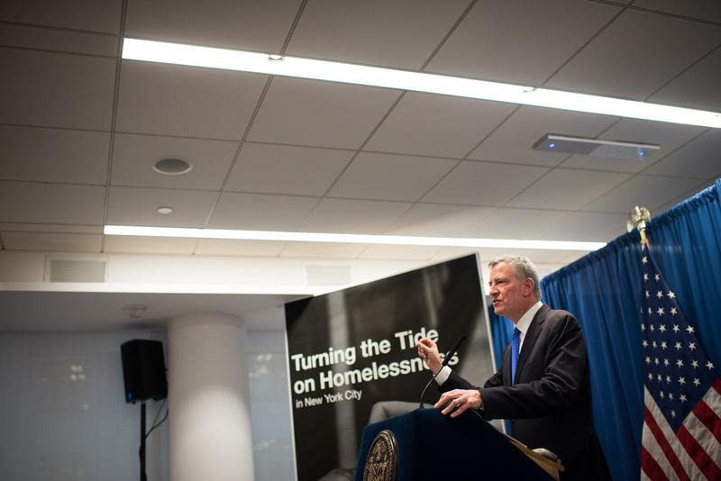 Mayor de Blasio announced his latest plan to address the homeless crisis by building 90 new shelters last week.
