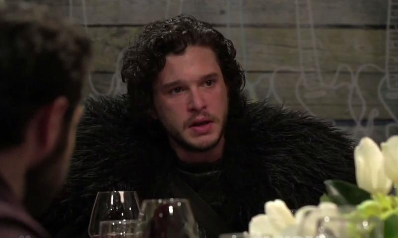 Jon Snow know nothing about dinner party etiquette