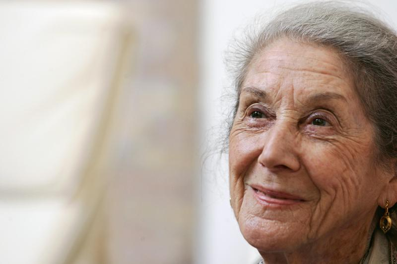 South African novelist Nadine Gordimer in 2006.