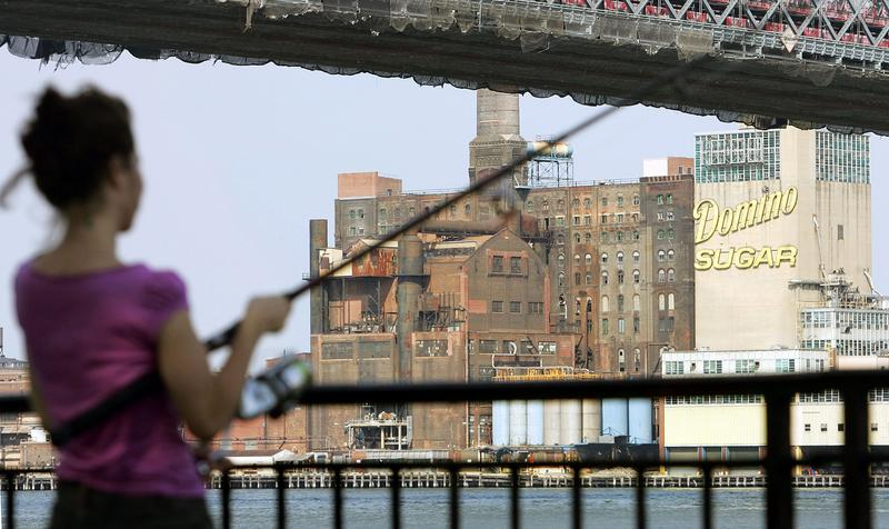The Domino Sugar Factory in Brooklyn.