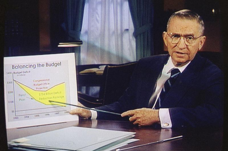 Ross Perot in a paid 30-minute television commercial.  Oct. 16, 1992.