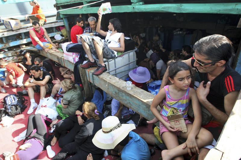 Iranian refugees wait to come into Australia.