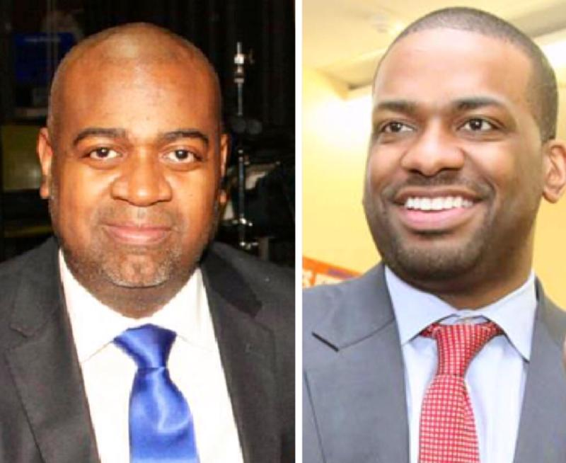 Newark mayoral candidates Ras Baraka and Shavar Jeffries.