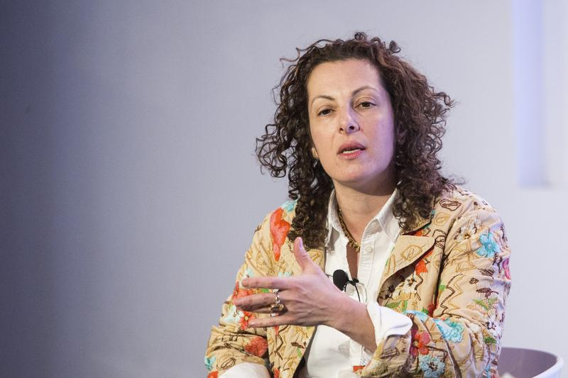 Beth Noveck, director of the Governance Lab, speaks at New York Internet Week in 2015.