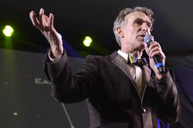 Bill Nye performs as part of the I Love F-ing Science Party at Stubbs Bar-B-Q on March 8, 2014 in Austin, Texas.