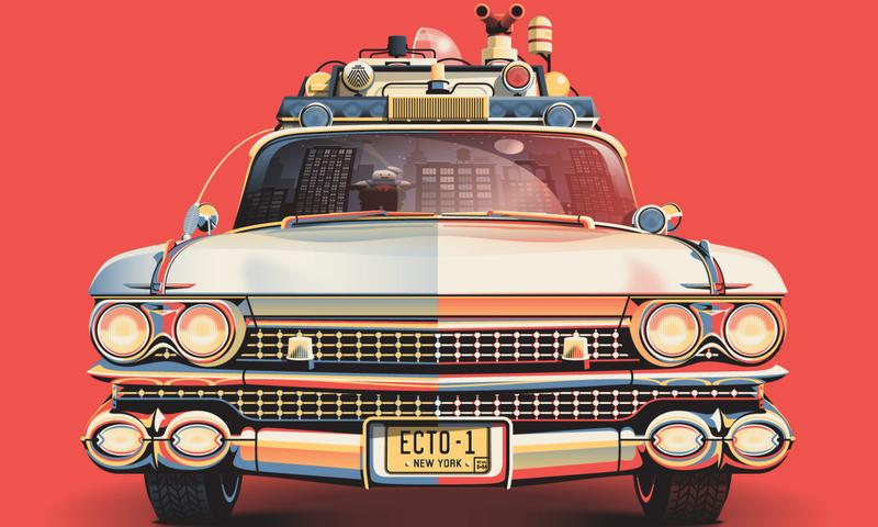The Ecto-1 as imagined by DKNG