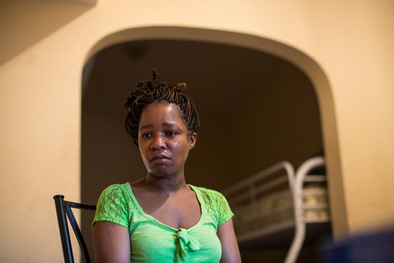 Linda Chatman, 40, talks about her son Cedrick at her apartment on Thursday, Aug. 28, 2014 in Chicago. Cedrick Chatman, 17, was killed by the Chicago police.