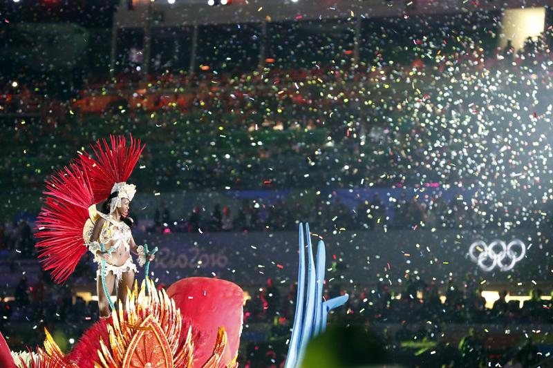Closing ceremony at the Olympics in Rio.