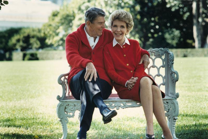 Former U.S. President Ronald Reagan and First Lady Nancy Reagan share a moment in this undated file photo. Ronald Reagan turns 92 on February 6, 2003.