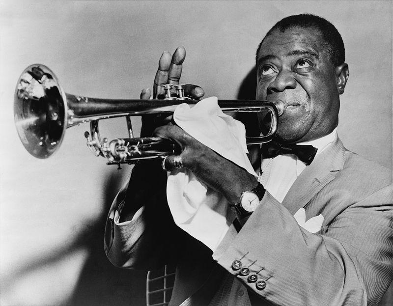 Louis Armstrong performing in 1952.