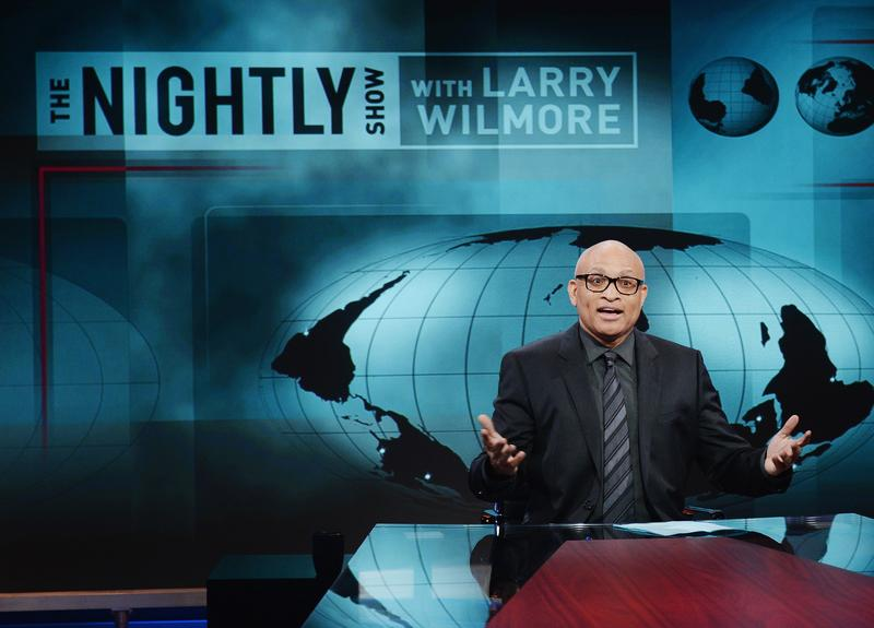 Host Larry Wilmore appears on the debut episode of Comedy Central's 'The Nightly Show with Larry Wilmore' at The Nightly Show Studios on January 19, 2015 in New York City.
