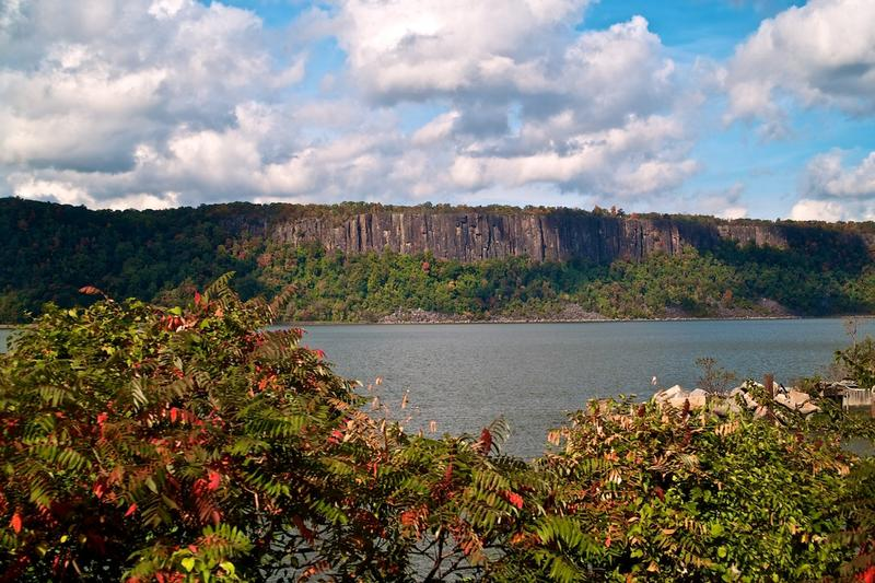 The Palisades on the New Jersey side of the Hudson River just across from Yonkers, New York.