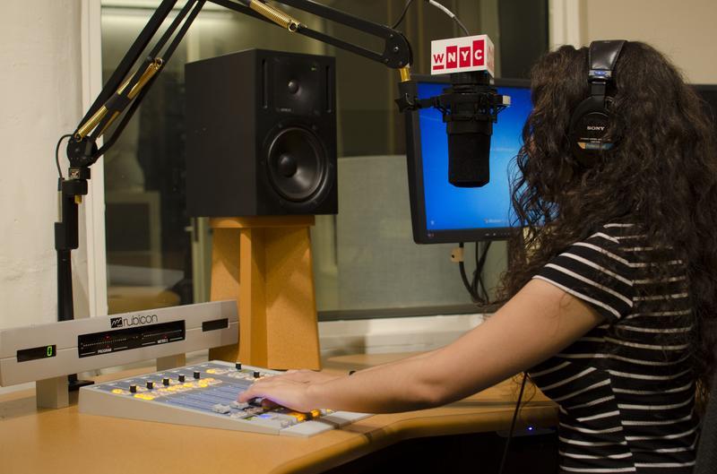 Rainy in the WNYC Radio Rookies studio.