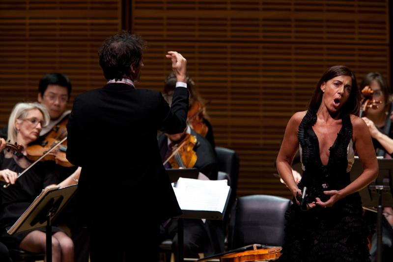 Ensemble Matheus, director Jean-Christophe Spinosi, and soprano Veronica Cangemi at Zankel Hall on March 6, 2013.