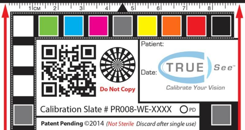 A TRUE-See calibration slate