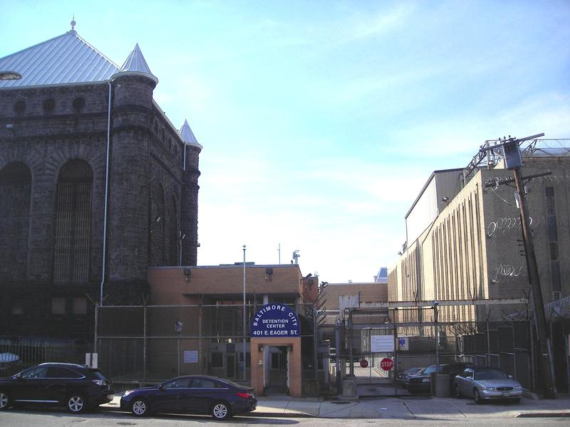 Visitors' entrance at the Baltimore City Detention Center